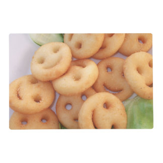 Placemat smiley potatoes