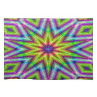 Placemat - Star-centre kaleidoscope