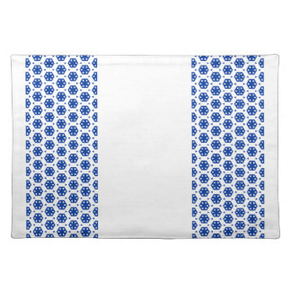 Placemat - Stylized Flowers in Rows Cloth Placemat