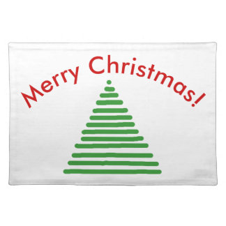 Placemat - Stylized Tree with Curved Text