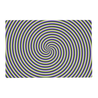Placemat   Swirl in Green Blue and Violet Laminated Place Mat