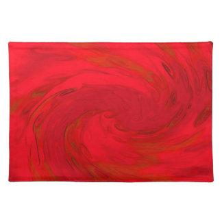 PLACEMAT - SWIRLING RED WIND EFFECT