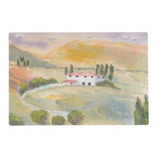 Placemat, Toscana Italia Tapete Individual
