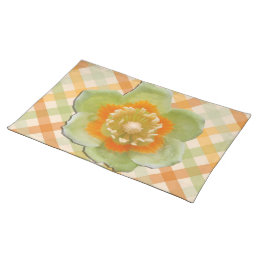 Placemat - Tulip Poplar Tulip on Checks