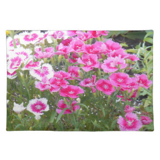PLACEMAT - TWO COLORED FLOWERS CLOTH PLACE MAT