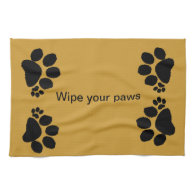 Placemat - wipe your paws hand towel