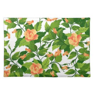 Placemat  with classic orange rose seamless