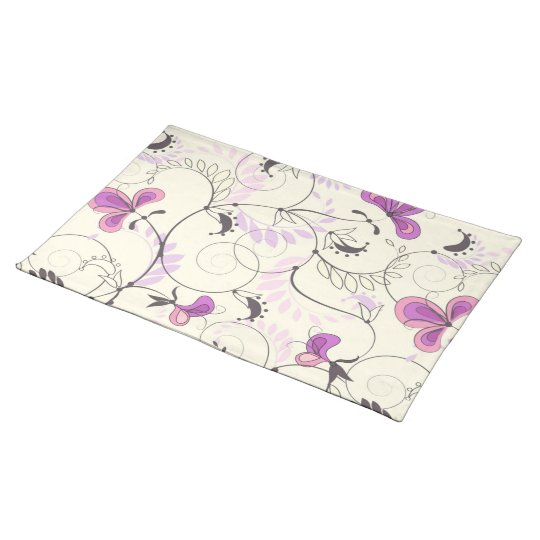 Placemat  with floral seamless