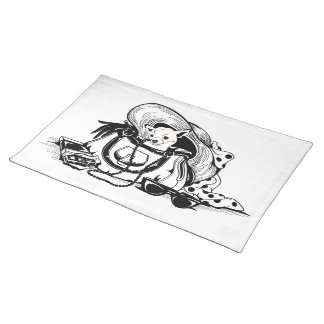 Placemat with graphic dog in bag picture