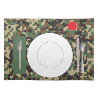 Placemat with plate, glass & flatware