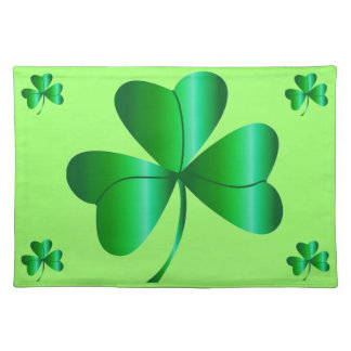 Placemat with Shamrock Design
