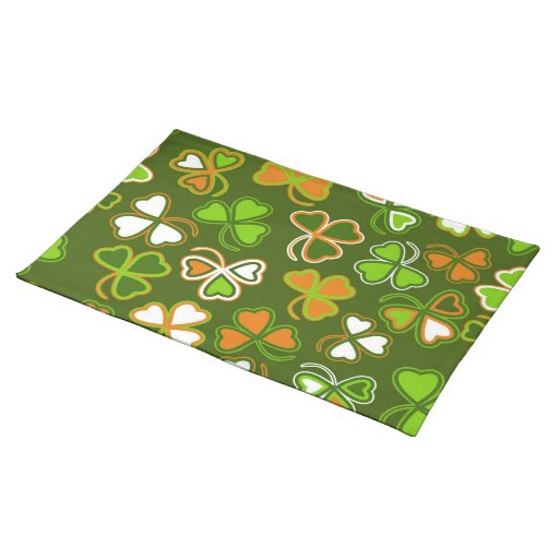 placemat with st patrick s day seamless zazzle