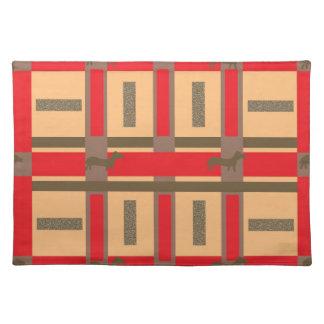 Placemat with Urban Dachsund Design