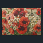 """Placemat with vintage flowers, poppies<br><div class=""""desc"""">VINTAGE POPPIES Collection. Any item from this collection will make a perfect gift for any girl or woman you care about.</div>"""