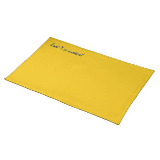 Placemat yellow