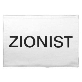 PLACEMAT - Zionist
