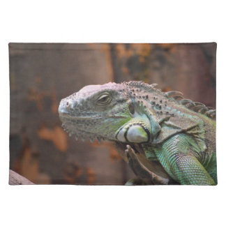 Placemate with colourful Iguana lizard Cloth Placemat