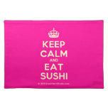 [Crown] keep calm and eat sushi  Placemats