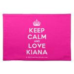 [Crown] keep calm and love kiana  Placemats