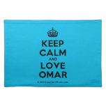 [Crown] keep calm and love omar  Placemats