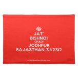 [Crown] jat' bishnoi chadi jodhpur rajasthan-342312  Placemats