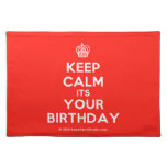 [Cupcake] keep calm its your birthday  Placemats