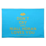 [Two hearts] don't cry coz niall horan loves you  Placemats