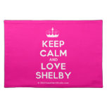[Knitting crown] keep calm and love shelby  Placemats
