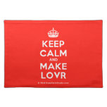 [Crown] keep calm and make lovr  Placemats