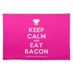 [Chef hat] keep calm and eat bacon  Placemats
