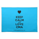 [Love heart] keep calm and love cma  Placemats