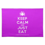 [Cutlery and plate] keep calm and just eat  Placemats