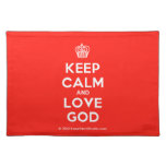 [Cupcake] keep calm and love god  Placemats