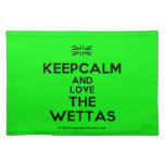 [UK Flag] keepcalm and love the wettas  Placemats