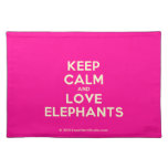 keep calm and love elephants  Placemats