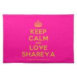 [Crown] keep calm and love shareya  Placemats