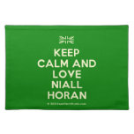 [UK Flag] keep calm and love niall horan  Placemats
