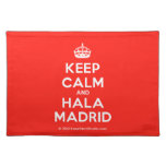 [Crown] keep calm and hala madrid  Placemats