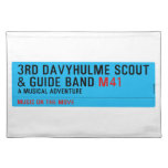 3rd Davyhulme Scout & Guide Band  Placemats