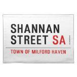 Shannan Street  Placemats
