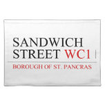SANDWICH STREET  Placemats