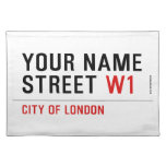 Your Name Street  Placemats