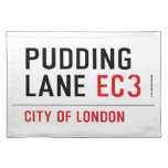PUDDING LANE  Placemats