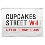 cupcakes Street  Placemats