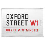 oxford street  Placemats