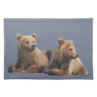 "Placemats  20"" x 14"" w/ grizzly bear cubs"