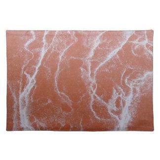 Placemats anaranjados del remolino mantel individual