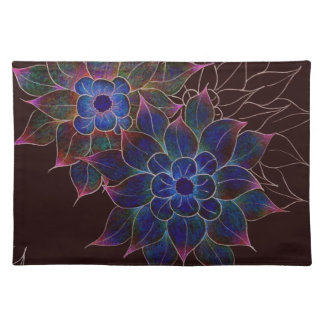 Placemats-Art Deco Stylized Flowers Placemat