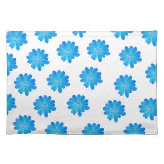 Placemats azules de la flor manteles