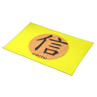 Placemats Chinese Symbol For Faith On Sun YELL